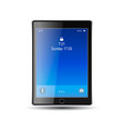 tablet with blue screen vector image vector image