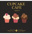 The concept of cupcakes cafe menu vector image vector image