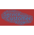 The Golden Rules Of Customer Service text vector image vector image