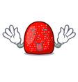 tongue out gumdrop mascot cartoon style vector image vector image