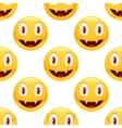 Vampire emoticon pattern vector image vector image
