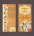 warm autumn vertical banners vector image vector image