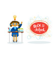back to school girl pupil sitting at desk studing vector image