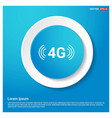4g connection icon abstract blue web sticker vector image