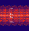 abstract purple and orange geometric gradient vector image