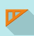 angle ruler icon flat style