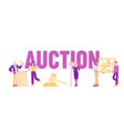 auction concept people buying assets male female vector image