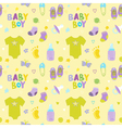 Baby Boy Background - Seamless Pattern vector image vector image