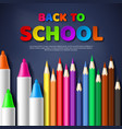 back to school paper cut style letters with vector image vector image