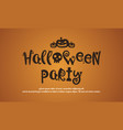 background of halloween party collection vector image vector image
