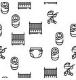 baclothes and tools seamless pattern vector image