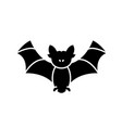 bat black icon sign on isolated background vector image vector image