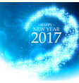 beautiful glitter style happy new year background vector image vector image