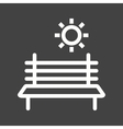 Bench in Park vector image