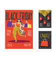 black friday sale poster flyer placard shopping vector image vector image