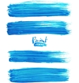 Bright blue acrylic brush strokes vector image vector image