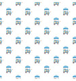 cart with ice cream pattern vector image vector image
