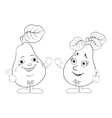 Character pears outline vector image