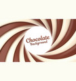 chocolate swirl background with place for your vector image