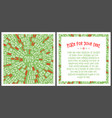 christmas card happy new year vector image vector image