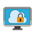 cloud computing upload vector image vector image