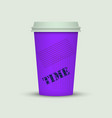 coffee cup in fresh colors style vector image