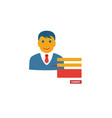 contact form icon simple flat element from vector image vector image