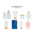 cosmetic and toiletry kits for men and women vector image