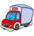 cute delivery car vector image