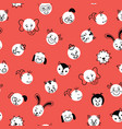 cute kids doodle animal polka dots seamless vector image
