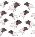 cute pig seamless pattern vector image