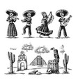day dead dia de los muertos skeleton vector image vector image