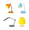 desktop lamp icon set cartoon style vector image vector image