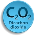 Dicarbon dioxide vector image vector image