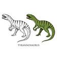 dinosaurs tyrannosaurus rex tarbosaurus vector image vector image