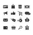 E-commerce shopping icons set vector image vector image