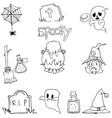 Flat doodle Halloween vector image vector image