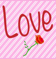 flower store love vector image vector image