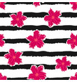 flowers on a striped background 2 vector image