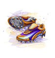 football soccer boots vector image