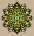 Green floral mandala vector image vector image