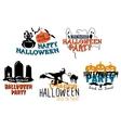 Halloween themes set vector image vector image