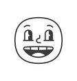 happy smile fase black and white emoji eps 10 vector image vector image
