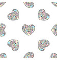 hearts seamless pattern hand drawn vector image vector image