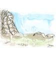 historic ruins vector image vector image