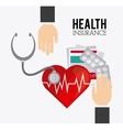 human insurance design vector image vector image