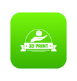 industry 3d printing icon green vector image vector image