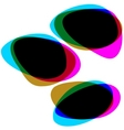 interactive multicolored bubbles eps 8 vector image