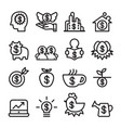 investment icon set line icon vector image vector image