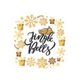 Jingle bells lettering print two holiday campanes